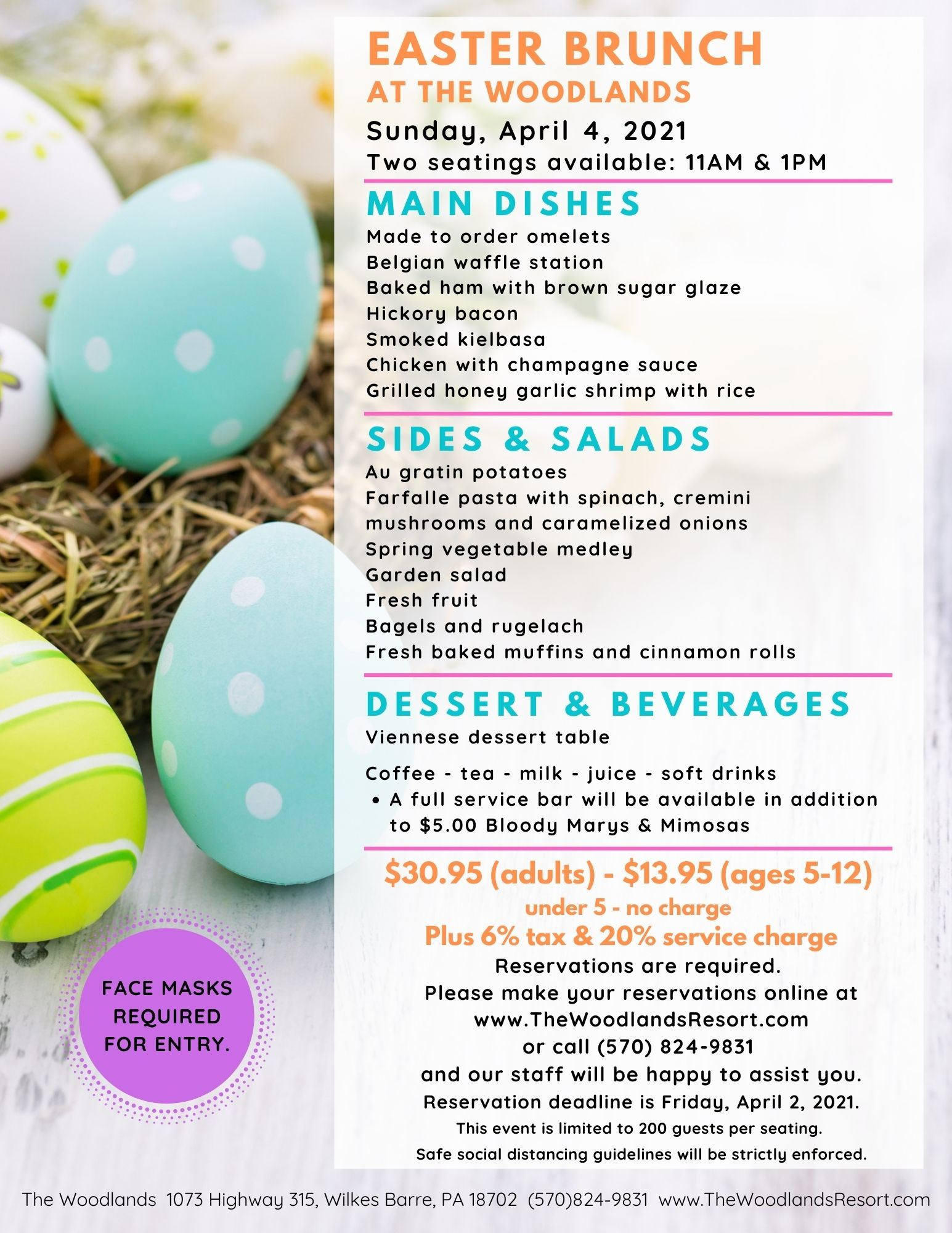 2021 Woodlands Easter Brunch
