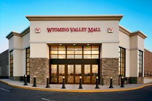 A view of the front of the Wyoming Valley Mall