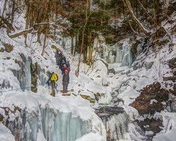 Ice Hiking at Ricketts Glen